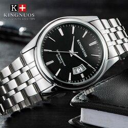 Kingnuos marka luksusowy męski zegarek 30m wodoodporny data zegar męskie zegarki sportowe mężczyźni kwarcowy Casual Wrist Watch Relogio Masculino w Zegarki kwarcowe od Zegarki na