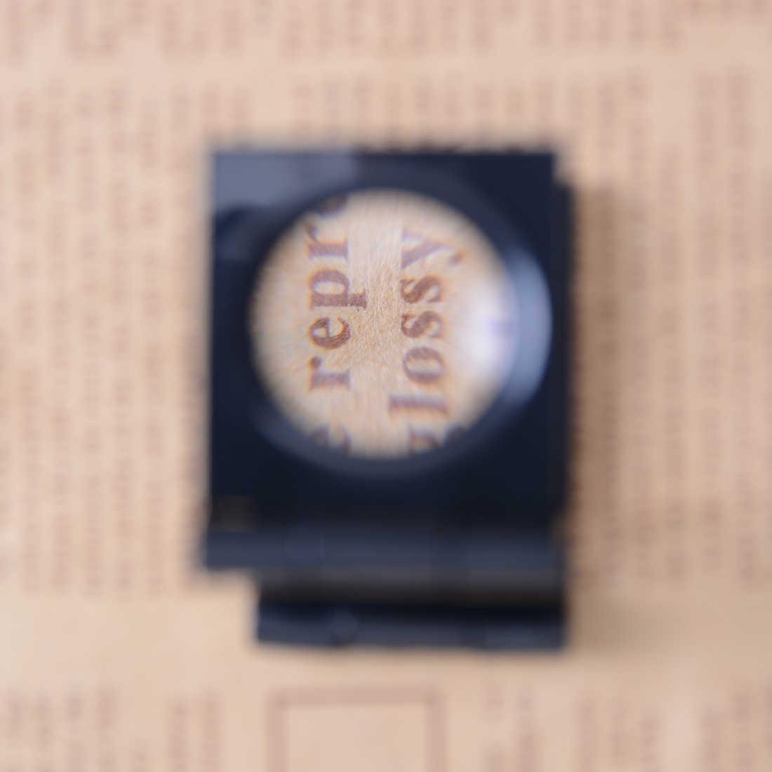 22 мм Складная масштабная Лупа светодиодный свет освещения печатная ткань 8x увеличение Lupa оптические линзы увеличительное стекло