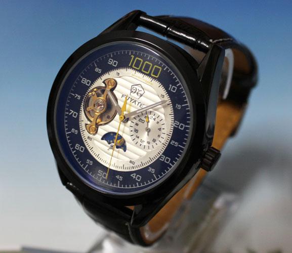 где купить NEW Automatic Mechanical Tourbillion Moonphase Mens Leather Watch по лучшей цене
