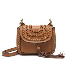 2015 Fashion Famous Brand Flag Bag Bohimian Style Saddle Tsssel Bag Women Genuine Leather Messenger Bag