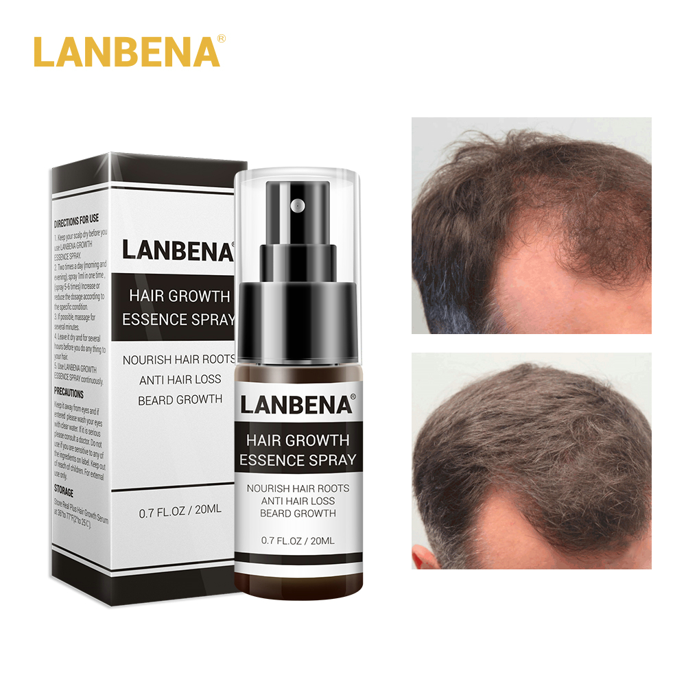 LANBENA Hair Growth Essence Spray Fast Powerful Hair Growth Essence Products Essential Oil Treatment Preventing Hair Loss image