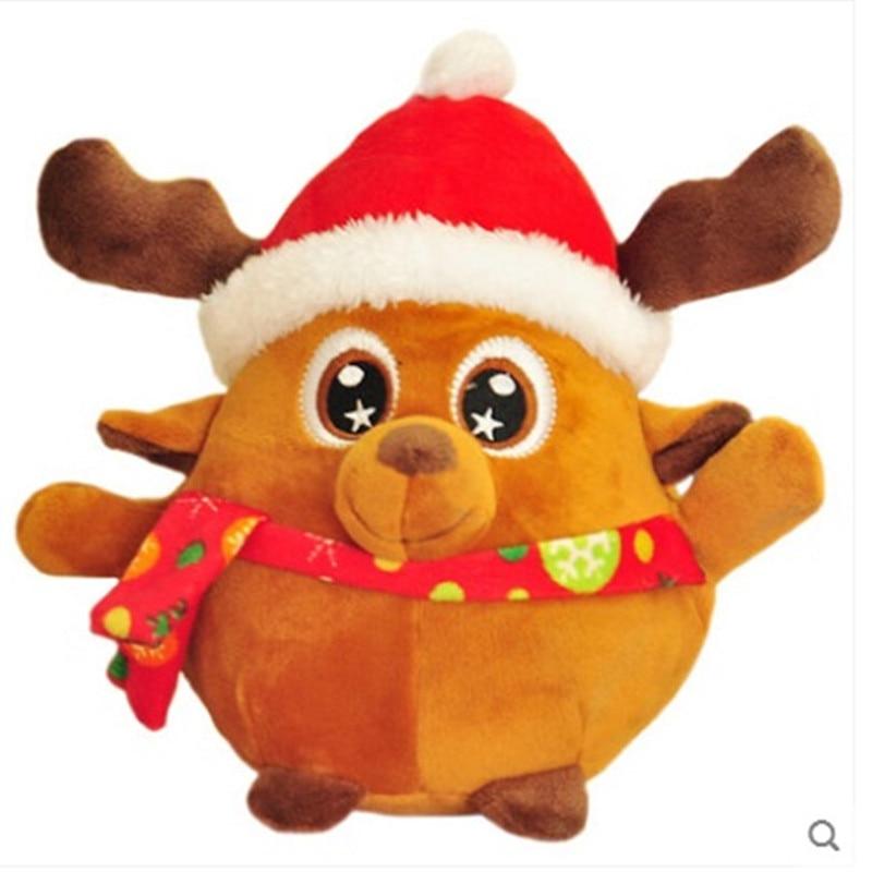 25cm Christmas Plush toys Sound Christmas tree Santa Claus elk Children Stuffed Cute Doll Singing Kids Gift Christmas Soft Toy