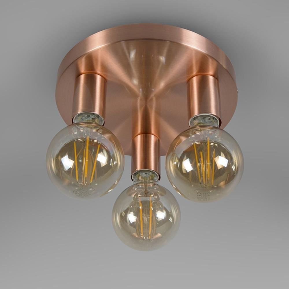 Modern Design Ceiling Light Ceiling Lamp 3-Bulb Facil Copper Metal Round Cylinder ledE27