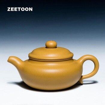 270cc аутентичный Yixing чайник ручной работы китайский уход за здоровьем фиолетовая глина чайный набор кунг фу чайный набор античный Fanggu чайник
