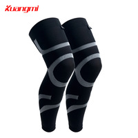 Kuangmi 1 Pair Sports Basketball Leg Sleeve Long Calf Knee Brace Support Protector Compression Cycling Legwarmers Dropshipping