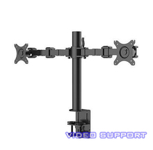 "Dual Monitor Arms Holder Fully Adjustable Desk Mount Stand for Two LCD Screens Fit for 10""~30"" Max Support 10KG Weight"