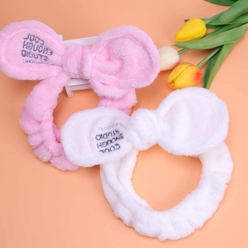 1 шт., новая мода, женские милые большие уши, удобные, для мытья лица, для купания, держатель для волос, эластичная повязка на голову, ободки для девочек, аксессуары для волос