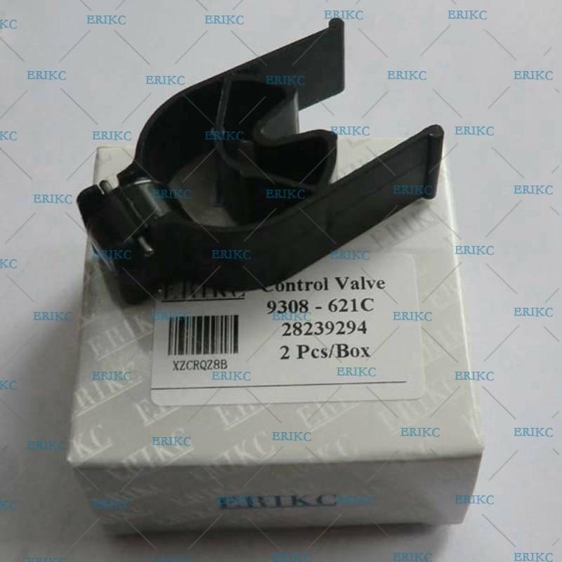 ERIKC negro diamante-como carbono revestimiento 28239294 28440421 9308-621C 9308z621c del inyector de combustible de carril común Válvula de Control para Delphi
