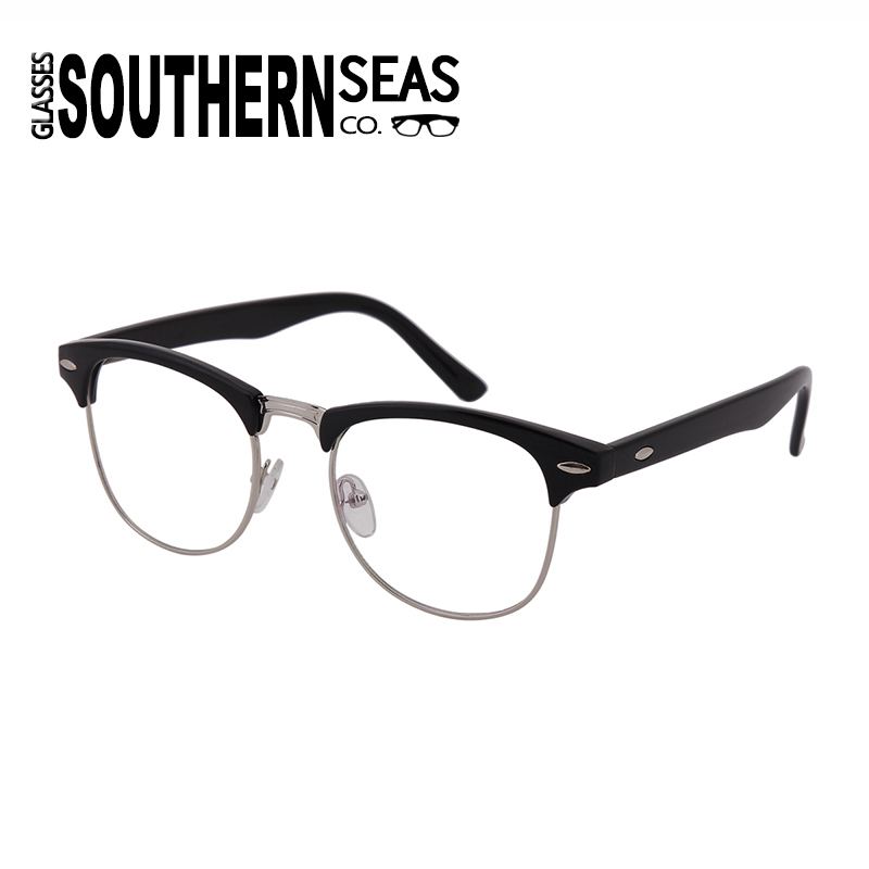aac0d93f532b Southern Seas Cycling 3.25 Distance Half Rim Glasses Mens Womens Students  Metallic Frame Myopia Nearsighted Eyewear