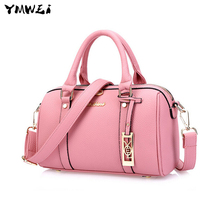 New 2016 Boston bag High-end cowhide leather handbag Cylindrical hand the bill of lading shoulder bag delivery free of charge