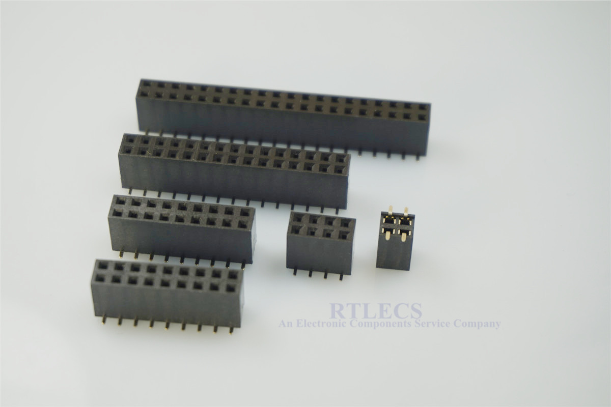 5pcs 2.54 Mm Pitch PCB Female Header 4 6 8 10 12 14 16 18 20 24 28 30 40 80 Pins Dual Row Receptacle SMT Height 8.5mm Socket