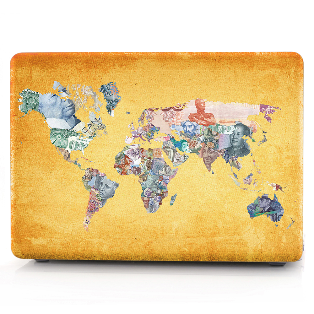 New For Macbook Air Pro Retina 11 12 13 15 Cover Hard PVC Color World Map A1466 Hard PC Coque for Macbook Pro 13 A1989 2018 Case (7)