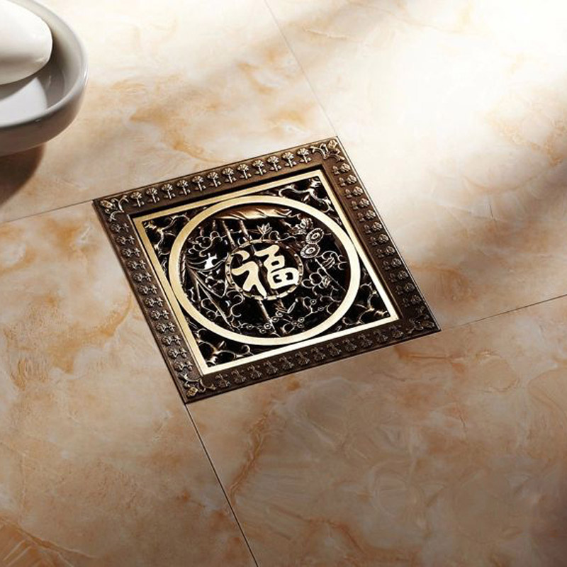 New-Arrival-Antique-Brass-12-12cm-Square-Floor-Drain-Shower-Drain-Bathroom-Furniture-HJ-8701T (2)