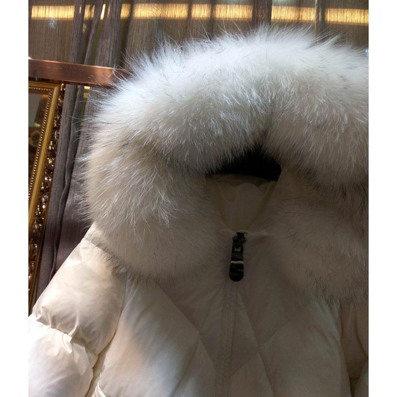 white Nouvelles Chaud Collier 2017 Coton Moyen Survêtement Black Raton L104 À Fourrure De Hiver Capuchon Veste Laveur Femmes Longueur 5O1Hq6UnOw