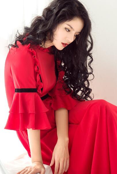 Manches 2018 Longue Demi Réunion Mode Vadrouille Nouvelle Rouge Longueur Dame S Papillon Annuelle Red De Femmes 2xl Robe Foor Cru n6FWxB7PqA