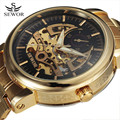 2016 New SEWOR Gold Watches Luxury Brand Men's Fashion Automatic Hollow Out Man Mechanical Watches Waches relogio masculino