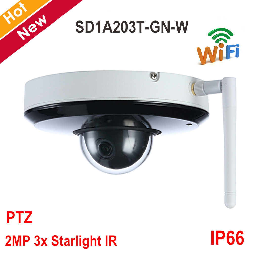 DH Wifi PTZ Camera SD1A203T GN W 2MP 3 x Starlight IR Network Camera STARVIS CMOS