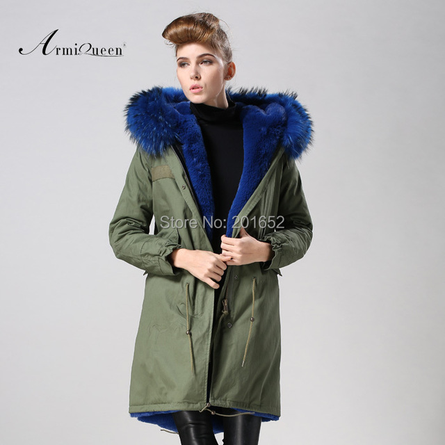 Women raccoon Winter Warm Parka high quality Faux Fur parka Hooded Coat Overcoat Tops Women's Fur Jacket 1