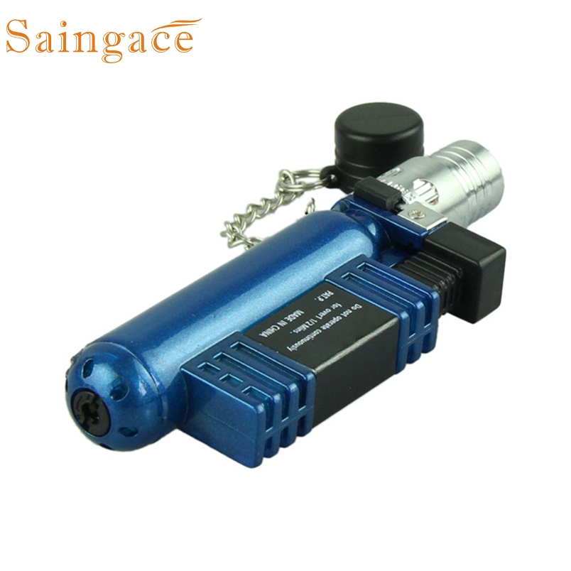 Saingace plasma lighter 1PC stylish cool Jet Torch Windproof Cigar Cigarette Refillable Butane Gas Lighter AM-136 *30 Gift Drop
