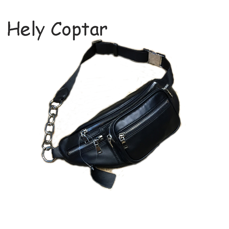 [Hely Coptar] 100%cGenuine Leather Sheepskin Women Fashion Designer Chest Bags Luxury Handbags Soft Lambskin 2017 Street Style