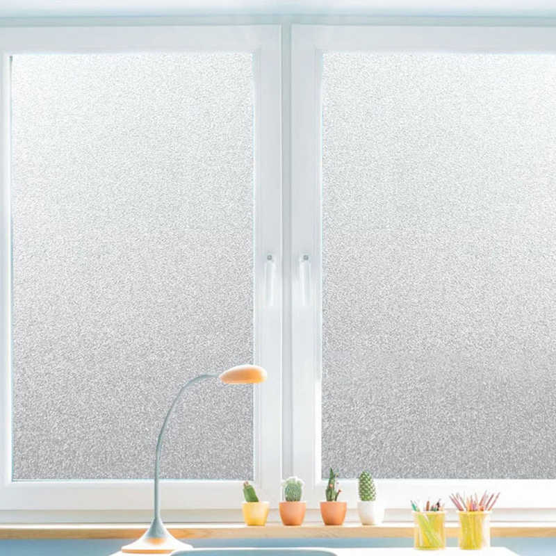30/45/60/80/90cmPVC Frosted Window Film Waterproof Glass Sticker Home Bedroom Bathroom Office Privacy Scrubs Frost No Glue