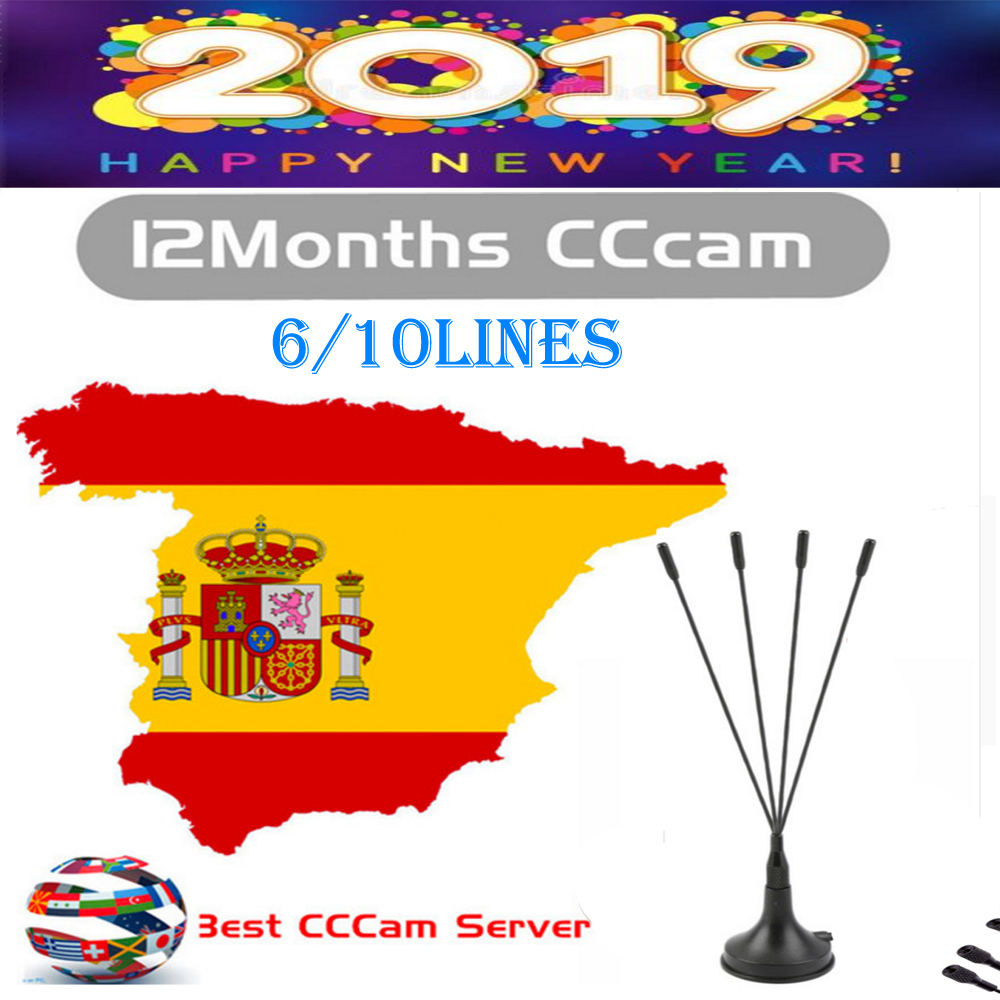 Spain Receptor Cccams Lines For Spain Used For Satellite Tv Receiver DVB-S2