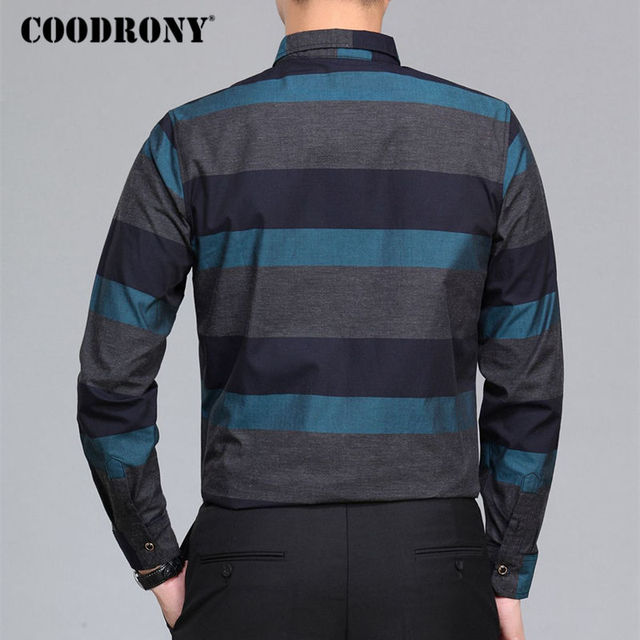 Men Spring Summer New Arrival Casual Cotton Striped Plus Size Modern Elegant Shirt