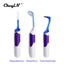 3PCS Oral Clean Tools LED Dental Care Tooth Stain Eraser Plaque Remover Oral Hygiene Dental Kit Teeth Whitening Whitener