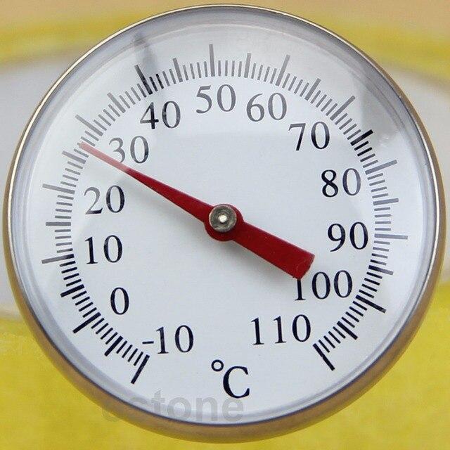 Sensor de Aço Inoxidável seguro Cozinhar Alimentos Leite Café Termômetro com Grande Dial-