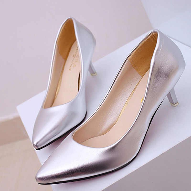 Dört mevsim Patent Peather düşük topuklu ayakkabılar kadın profesyonel ayakkabı bayanlar sığ ağız iş ayakkabısı siyah beyaz ofis ayakkabı