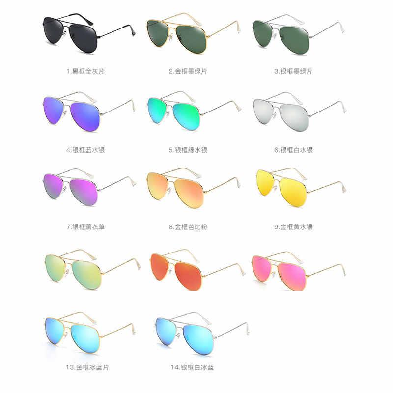 0da726c10d ... Reggaeton 2018 fashion color film ray sunglasses polarized men s female  pilot sunglasses metal frame silver small ...