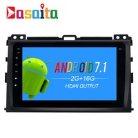 Dasaita 8 Android 7 1 Car GPS Player Navi For Toyota Prado 120 2004 2009 With