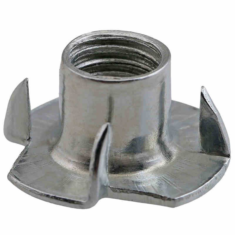 Image 4 - 80pcs M3 M4 M5 M6 M8 Zinc Plated Four Claws Nut Speaker Nut T nut Blind Pronged Tee Nut Furniture Hardware-in Nuts from Home Improvement