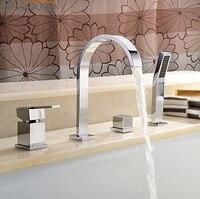Frete grátis ouble lidar com torneira da pia do banheiro bacia mixer água tap 3 peça orneira banheiro BF098
