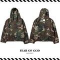 Best Version New Arrival 2016 Fall Winter Fear of God  Camouflage Anorak Oversize Camo Baggy Army Windbreaker Kanye Men Jacket