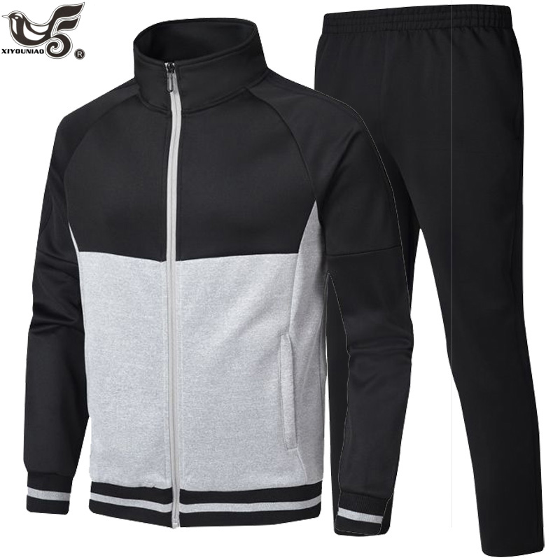 Men Tracksuits With Pants New Gyms Set Outwear Male Autumn Basketball Clothing Casual Man Track Suit Sportswear Sweatsuits