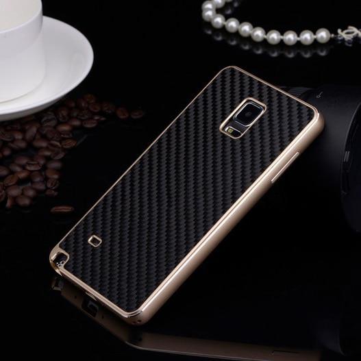 Цена за Элитная углерода Волокна задняя крышка + Алюминий бампер набор оригинальный телефон Чехлы для Samsung Galaxy Note 4 N9100 из металла Чехол
