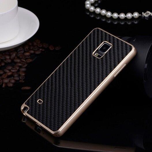 imágenes para Lujo Real de Fibra de Carbono Cubierta De Parachoques de Aluminio + Juego Original Casos de teléfono Para Samsung Galaxy Nota 4 N9100 Cubierta de la Caja de Metal
