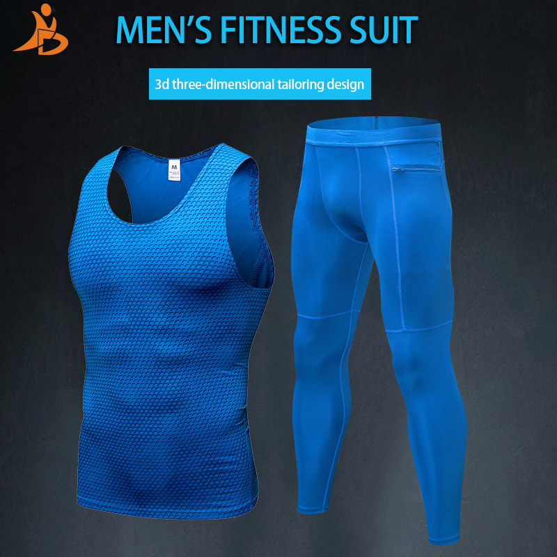 Constructive Yd New Compression Jogging Suit For Men Top+pants Suit Elastic Men's Running Set Fitness Tight Sport Suit Gym Mens Sportswear Chills And Pains