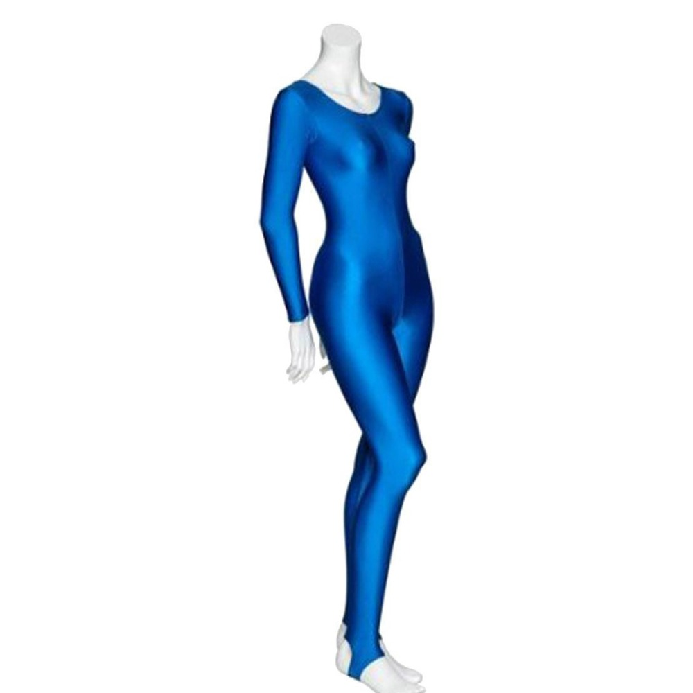 Womens-Long-Sleeve-Unitard-Catsuit-Round-Neck-Stirrup-Dance-Adult-Spandex-Lycra-Unitard-Bodysuit-Costume