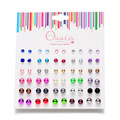 30Pack Mix Earrings Set Stud Earring For Woman Party Jewelry Colorful Ball Pearl Stud Earring For Girls Allergy Free Best Gift
