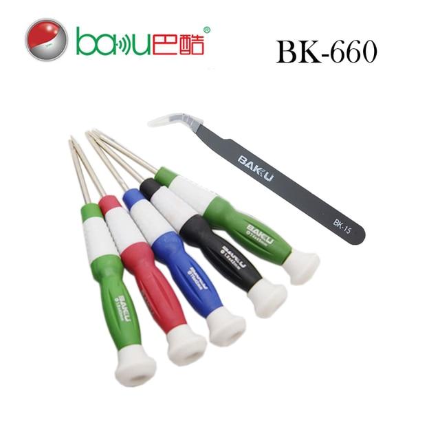 BAKU Professional Precision Screwdriver Set, 6 Screwdrivers in 1 box BK-660 Portable Screwdriver Set Repair Tools for iPhone