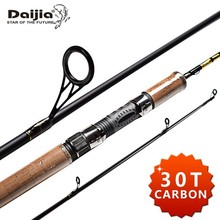 Daijia 30Ton / IM7 High Modulus Graphite Carbon Fishing Rod Spinning 3 Section 2.1m 2.4m 2.7m 3m Saltwater Sea Bass Spinnig Rod
