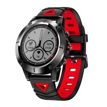 Купить с кэшбэком RUIJIE  IP68 Waterproof  G01 GPS Smart Watch Men Blood Pressure Oxygen Heart Rate Smartwatch Compass Multiple Sport Mode