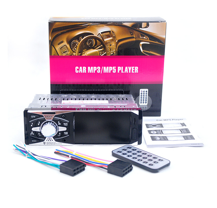 4.0''inch TFT HD screen car radio USB SD AUX in 1080P video 1 din car audio stereo MP3/MP4/MP5 player support rear view camera