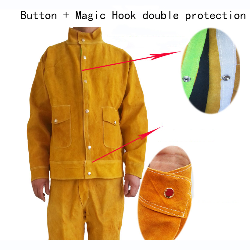 Welding Safety Clothing Flame Retardant Pure Leather Welder Protective Clothing Anti-scalding Welder overalls Workplace Clothes (4)