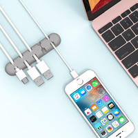 Self Adhesive Cable Clips Wire Cable Holder Mouse MP4 MP3 Earphones Wire Desktop Manager Cable Clamp