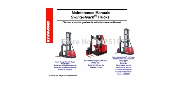 US $77 0 23% OFF|Raymond Maintenance Manual Swing Reach Trucks-in Software  from Automobiles & Motorcycles on Aliexpress com | Alibaba Group