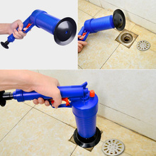 купить Home High Pressure Air Drain Blaster Pressure Pump Cleaner Toilet Flusher Sewer Dredging Pipe Dredger Sewer Toilet Useful Tool дешево