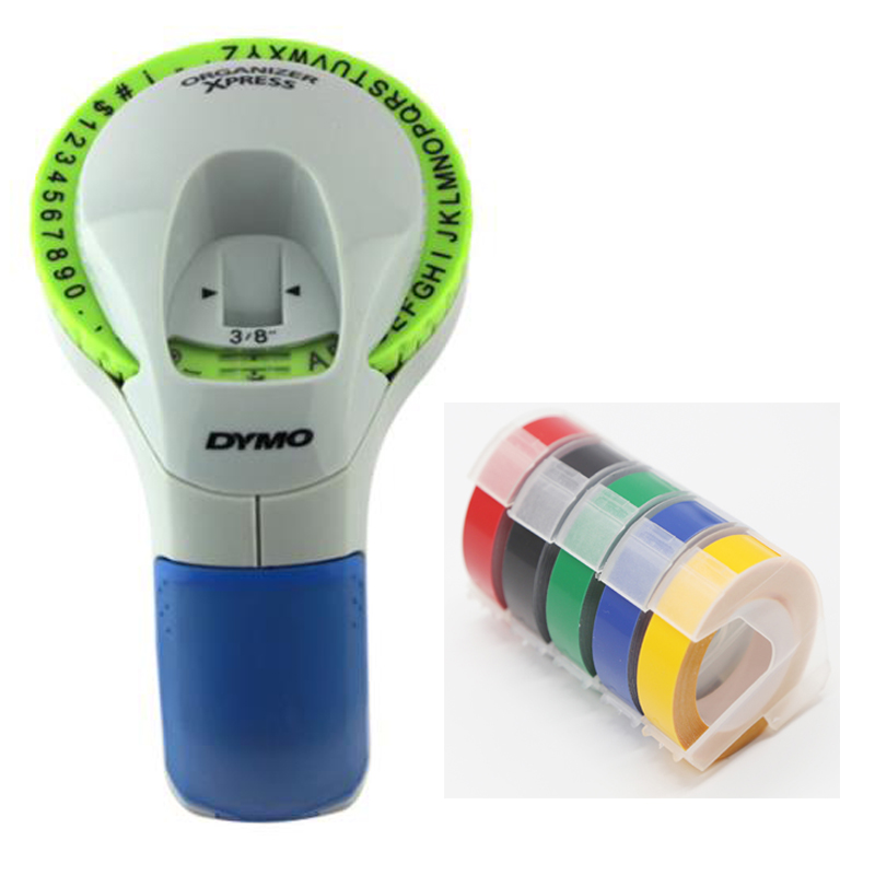 CIDY For Dymo 12965 Manual Label Printers 9mm 3D Embossing Tapes For Dymo Organizer Xpress Label Makers 1610 1540
